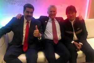 Maduro, Díaz Canel y Evo Morales