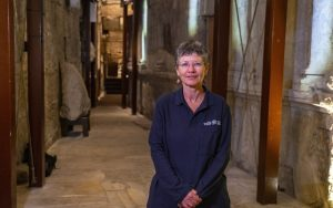 Directora de excavación en los túneles del Muro Occidental en nombre de la Autoridad de Antigüedades de Israel.(Yaniv Berman / Autoridad de Antigüedades de Israel