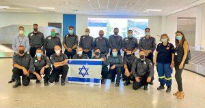 Bomberos israelíes