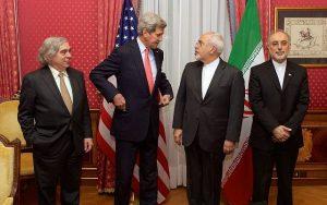 Ernest Moniz, John Kerry, Mohammad Javad Zarif y Ali Akhbar Salehi