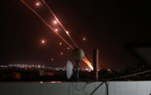 Cohetes lanzados desde Rafah