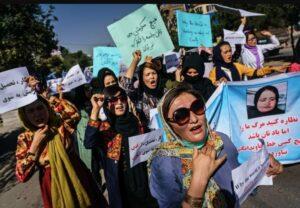 mujeres-manifestación-afganistán